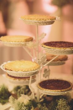 pie display for assorted treats // photo by Ryan Price // pies by House of Pies