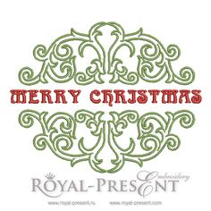 Free Machine Embroidery Design - Merry Christmas