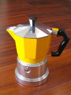 Stove-top coffee pot from Sant Eustachacio coffee shop, Rome, Italy