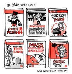 Ye Olde Video Games (by @Gemma Correll) http://2ba.by/15vjc