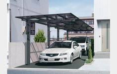 angled roof huts and carports - Google Search
