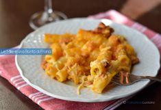 I tortiglioni con zucca, besciamella e salsiccia al forno +++