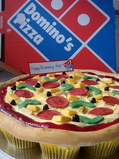 Domino's Pizza Cupcake Cake