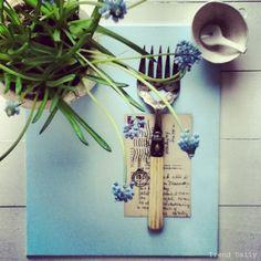 Grape hyacinths.  trend-daily.blogspot.com  #flowers #moodboard #blue