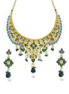 Ravishing Look Stone Studded Necklace Set
