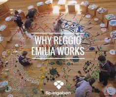 Why Reggio Emilia Education Works ~ # ECE works Reggio Emilia Preschool, Reggio Emilia Classroom, Reggio Inspired Classrooms, Preschool Classroom, Preschool Activities, Classroom Rules, Classroom Setup, Montessori, Reggio Children