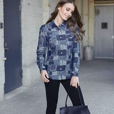 """Boro Denim Shirt  