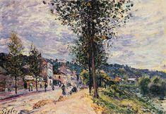 Street Entering the Village, 1880 - Alfred Sisley