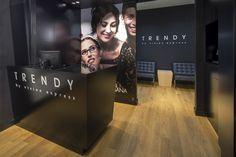 Trendy by Vision Express optician saloon by EMKWADRAT Architekci, Lodz – Poland Visual Merchandising, Branding, Design Furniture, Poland, Studio, Interior, Projects, Store Design, Showroom