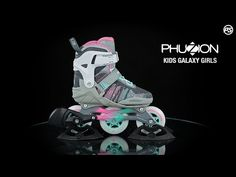 The Powerslide Phuzion Galaxy Girls inline skate for kids looks super cool thanks to its 3 wheels & the knitted upper. Compared to a skate, the Trisk. Inline Skates For Kids, Kids Skates, Inline Skating, 3rd Wheel, More Fun, Sneakers Nike, Make It Yourself, Children, Nike Tennis