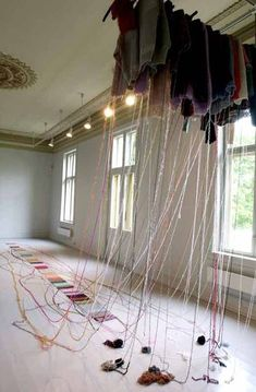 "Kari Steihaug ~ ""Wardrobe Writings"" Textile Installation Galleri F15 
