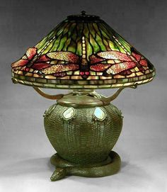 Dragonfly Shade on Snake Base by Century Studios