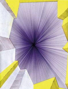 Caroline Kryzecki / Berlin / Ohne Titel, 2012 Kugelschreiber, Gouache und Acrylfarbe auf Papier 30,5x23cm