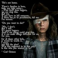 "I was screaming ""SHUT. UUUUUUUUP!!!!! YOU IDIOT!!!!!"" this entire scene rip Carl"