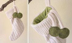 Decoraciones de Navidad de los suéteres viejos
