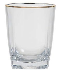 World Market Metallic Gold Rim Acrylic DOF Glasses Set of 4 | From tumblers to wine glasses, these outdoor vessels aren't actually made of glass—so you can relax poolside without a care in the world.