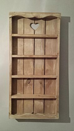 Wood Spice Rack For Wall Amazing Rustic Wood Spice Rack  Pinterest  Rustic Wood Shelves And Jar Decorating Design