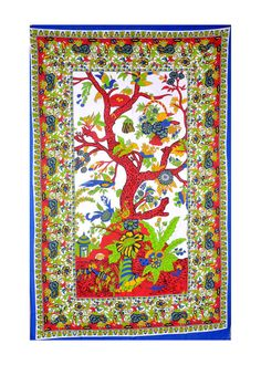 Tree of Life Tapestry Indian Hippie Wall Hanging by TheRawyalWorld