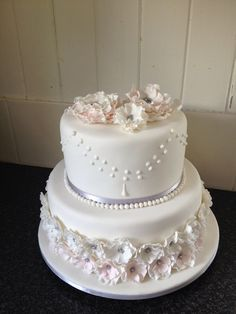 First wedding cake made without outside help!