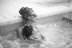 Beyonce & Blue Ivy Hit The Jacuzzi For Some Maxin' & Relaxin'! (PHOTOS)