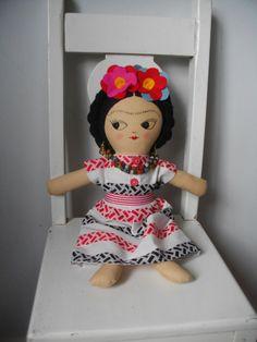 FRIDA KAHLO Art Doll Handmade plush toy by PalookaHandmade on Etsy