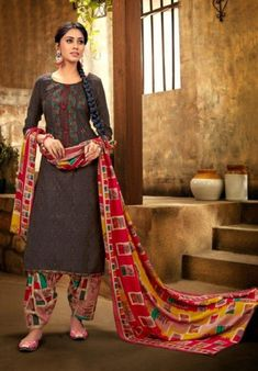 Alok Suit Presents Shan-e-punjab Pashmina Patiyala Suits Collection Patiyala Suit, Pashmina Shawl, Print And Cut, Winter Collection, Suits For Women, Cool Things To Buy, Presents, Sari, Pure Products