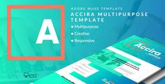 Accira Multipurpose Adobe Muse Template . Accira Multipurpose Template is a modern and clean Adobe Muse template MultipurposeTo edit this template with Adobe Muse is very easy! You can change colors, texts or replace the images in a few