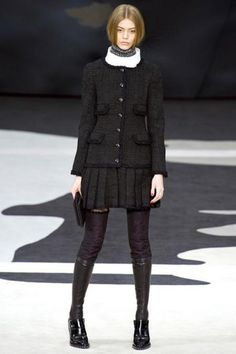 Chanel Fall 2013 RTW - Runway Photos - Fashion Week - Runway, Fashion Shows and Collections - Vogue - Vogue Fashion Week, High Fashion, Fashion Show, Luxury Fashion, Fashion Outfits, Fashion Design, Review Fashion, Fashion Trends, Chanel Fashion