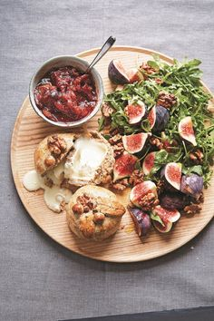 Baked Goat's Cheese Wrapped in Walnut Pastry with Fig Relish | Guest Recipes | Nigella's Recipes | Nigella Lawson