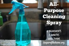DIY All-Purpose Cleaning Solution - made with baking soda, liquid castile soap, tea tree oil, and water