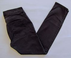 "Gap 1969 Legging Jean 28 6 Black Mid rise Stretch skinny Denim Jeans 2013 29"" #GAP #LeggingsSlimSkinny"