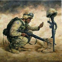 We are war-torn and we await the day He will wipe every tear from our eyes, and there will be no more death, or sorrow, or crying, or pain. We long for these things will be gone forever. Adopted from Revelation NLT Military Memes, Military Photos, Military Police, Military Veterans, Military Art, Usmc, Marines, Homeless Veterans, Combat Medic