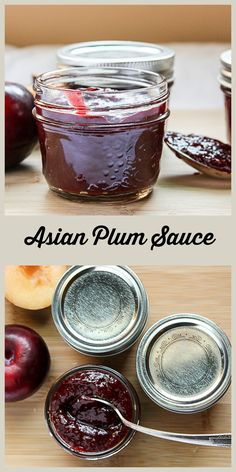 Small Batch - Using fresh plums, this Chinese style plum sauce is light years better than what you find on the buffet for your egg roll Chutney Recipes, Sauce Recipes, Recipes With Plum Sauce, Plum Apple Recipes, Curry Recipes, Plum Chutney, Sauce Spaghetti, Asian, Canning Recipes