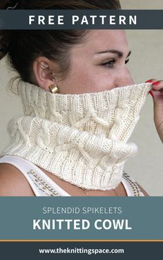 Stay warm this fall and winter seasons by crafting yourself this chic and versatile knitted cowl, the perfect accessory for your daily commute. This easy knitting project is ideal for advanced beginner knitters. Fall Knitting Patterns, Easy Knitting Projects, Knitting Blogs, Knitting For Beginners, Crochet Patterns, Free Cowl Knitting Patterns, All Free Knitting, Knitting Tutorials, Knit Cowl