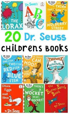 These Dr. Seuss books will open up a world of rhyming and imagination for you and your child. Dive in and enjoy the fun that is waiting on each and every page! Online Music Lessons, Dr. Seuss, Two Fish, The Lorax, Diy For Kids, Art Lessons, Childrens Books, Imagination, Waiting