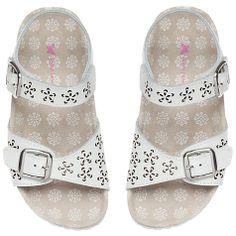 Buy John Lewis Girl Ora Cut Out Detail Sandals, White Online at johnlewis.com