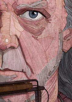 Neil Young illustration portrait for Georgie Magazine by Stavros Damos, via Behance