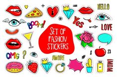Fashion patch badges by MargoMarket on @creativemarket