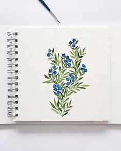 t's blu - aquarelle - Watercolor Cards, Watercolor Illustration, Watercolour Painting, Watercolor Flowers, Painting & Drawing, Painting Flowers, Watercolors, Drawing Flowers, Watercolor Portraits