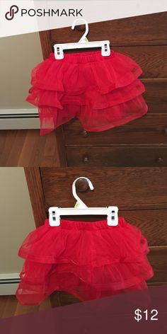 Red tutu child's Three rows of mesh &sparkly on edges!new 4T Costumes Dance