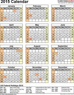 2015 Calendar Pictures