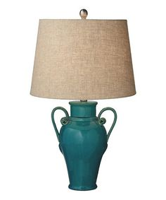 Another great find on #zulily! Turquoise Reactive Glaze Urn Lamp #zulilyfinds
