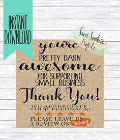 9 Best Etsy Thank You Cards Images Business Thank You Cards Thank