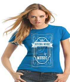 Y Factor Leicester #yfactorleics - a cause supporting two great charities. The tee represents the various artists that will play on the day in the form of a jukebox and crown above it.
