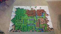 Legend of Zelda - A Link to the Past: Light World Map--Row 7 perler art (7 x 10 pegboards) by PixelPerfect8 on DeviantArt