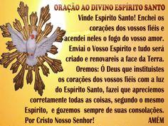Espirito Santo De Deus | ... ao Espírito Santo. | Enchei-vos do Espírito Santo de Deus