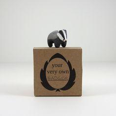 I want a pocket badger. Badger pocket totem figurine by HandyMaiden on Etsy, $32.00