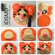 Ideas For Crochet Patterns Disney Baby Hats Crochet Applique Patterns Free, Crochet Motifs, Crochet Patterns Amigurumi, Crochet Dolls, Crochet Stitches, Knitting Patterns, Crochet Simple, Crochet Diy, Crochet Gifts