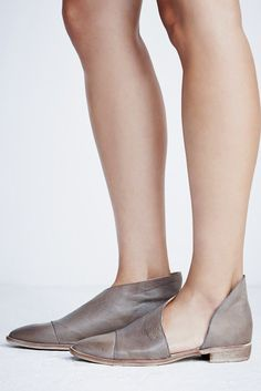 Free People Royale Flat Bootie in Grey