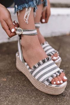 The Charlotte Espadrille In Dark Grey The Charlotte Espadrille In Dark Grey <br> These espadrilles run more true to size. Gladiator Shoes, Shoes Sandals, Boho Shoes, Casual Shoes, Shoes Sneakers, Cute Shoes Boots, Flat Shoes, Flats, Nike Shoes